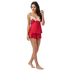 B by Ted Baker - Red cami and short pyjama set