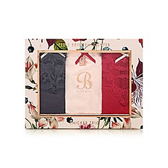 B by Ted Baker - Pack of three assorted knickers in a gift box