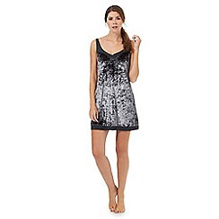 Nine by Savannah Miller - Charcoal velvet chemise