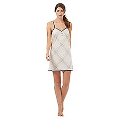 Nine by Savannah Miller - Ivory satin check print chemise