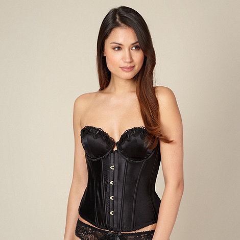 Reger by Janet Reger - Designer black scalloped lace basque