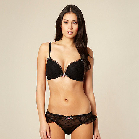 Floozie by Frost French - Black lace plunge bra