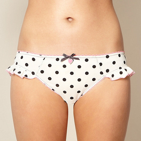 Floozie by Frost French - Designer cream spotted microfibre briefs