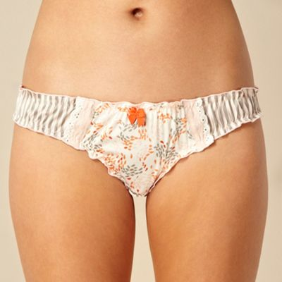 Designer cream swirl fish hipster briefs