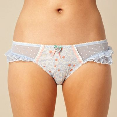 Designer blue seaside hipster briefs