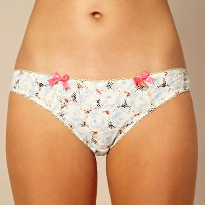 Blue rose printed hipster briefs