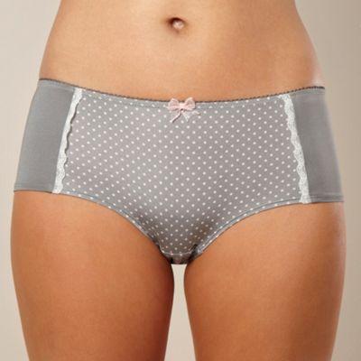 Grey polka dot microfibre shorts