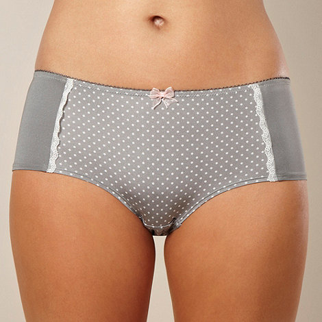 Presence - Grey polka dot microfibre shorts