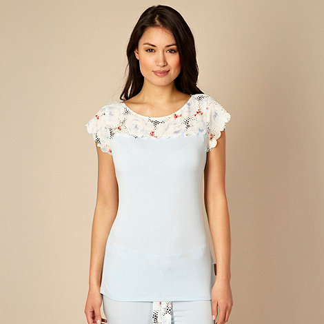 B by Ted Baker - Blue rose jersey pyjama top