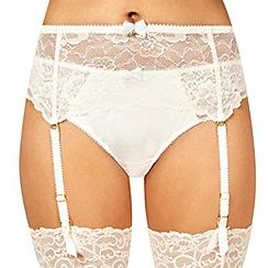 Reger by Janet Reger - Designer ivory bridal suspender belt