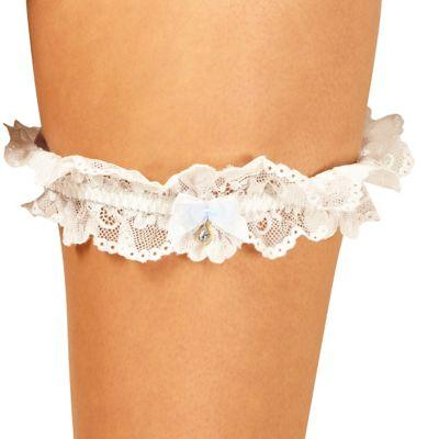 Designer ivory bridal lace garter