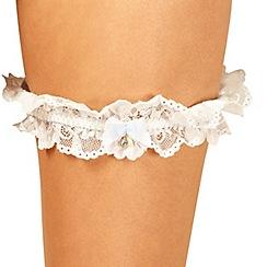 Reger by Janet Reger - Designer ivory bridal lace garter