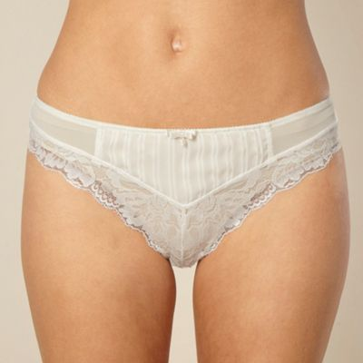 Ivory Fleur lace thong