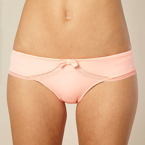 Princesse Tam Tam - Orange mesh panelled bikini hipster briefs