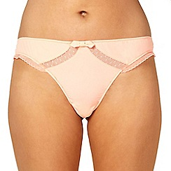 Princesse Tam Tam - Orange mesh panelled thong