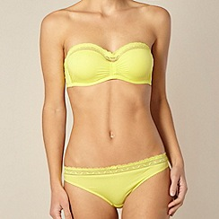 Princesse Tam Tam - Yellow lace trim non padded strapless bra