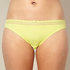 Princesse Tam Tam - Yellow lace trimmed bikini briefs