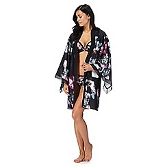 B by Ted Baker - Black 'Ethereal Posey' floral print kimono