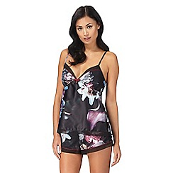 B by Ted Baker - Black floral print 'Ethereal Posey' pyjama cami