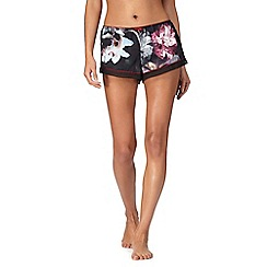 B by Ted Baker - Black floral print 'Ethereal Posey' pyjama shorts