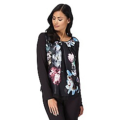 B by Ted Baker - Black 'Ethereal Posey' floral print pleated pyjama top