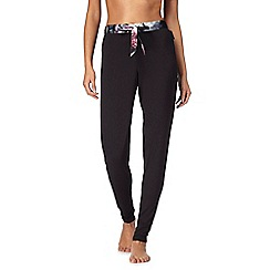 B by Ted Baker - Black floral print trim pyjama bottoms