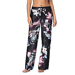 B by Ted Baker - Black 'Ethereal Posey' floral print pyjama bottoms