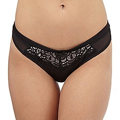Reger by Janet Reger - Black cut-out lace Brazilian briefs
