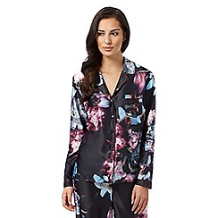 B by Ted Baker - Black 'Ethereal Posey' floral print pyjama top