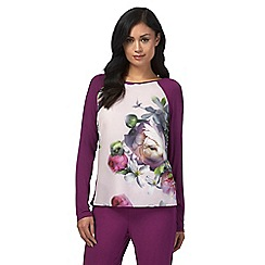 B by Ted Baker - Pink 'Sunlit Floral' long sleeve pyjama top
