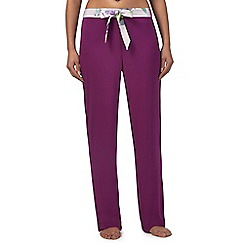 B by Ted Baker - Purple 'Sunlit Floral' pyjama bottoms