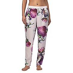 B by Ted Baker - Light pink 'Sunlit Floral' print pyjama bottoms