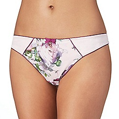 B by Ted Baker - Pink 'Sunlit Floral' print thong