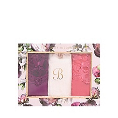 B by Ted Baker - Pink knicker trio and gift box