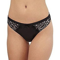 Reger by Janet Reger - Black cut-out lace thong