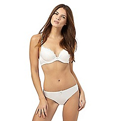 Floozie by Frost French - Ivory satin and lace plunge bra