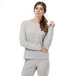 Nine by Savannah Miller - Grey cashmere long sleeve pyjama top