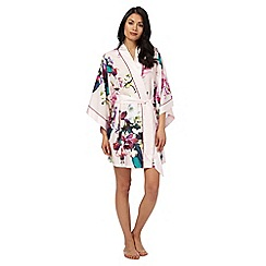 B by Ted Baker - Pink 'Midnight Fuschia' print dressing gown