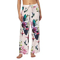 B by Ted Baker - Pink 'Midnight Fuschia' print pyjama bottoms