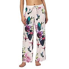 B by Ted Baker - Pink 'Olo Midnight Fuschia' print pyjama bottoms