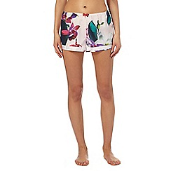 B by Ted Baker - Pink 'Midnight Fuschia' print pyjama shorts