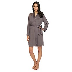 B by Ted Baker - Grey lace sateen dressing gown