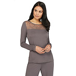 B by Ted Baker - Grey lace pyjama top