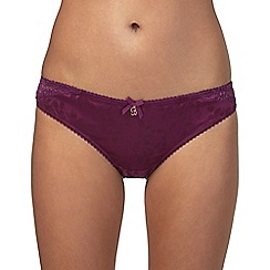 B by Ted Baker - Purple floral jacquard Brazilian knickers