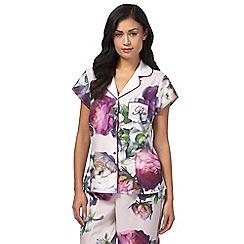 B by Ted Baker - Pink 'Sunlit Floral' cap sleeve pyjama top