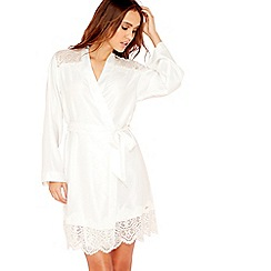 B by Ted Baker - Ivory 'Tie the Knot' lace dressing gown