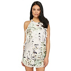 B by Ted Baker - White diamond print 'Crystal Droplets' camisole