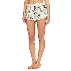 B by Ted Baker - White diamond print 'Crystal Droplets' shorts