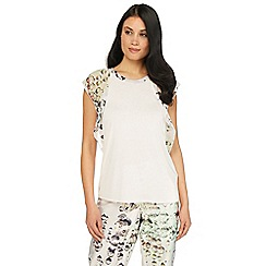 B by Ted Baker - White diamond print 'Crystal Droplets' short sleeve pyjama top