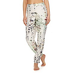 B by Ted Baker - White diamond print 'Crystal Droplets' pyjama bottoms